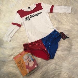Other - Harley Quinn costume with wig